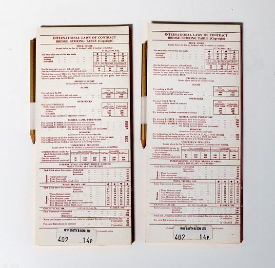 Job Lot Vintage Card Game Score Pads SheetsRummyBridgeCanasta
