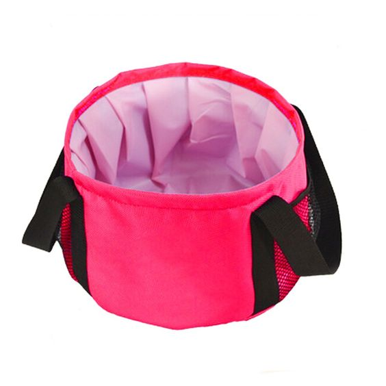 2015 Creative Portable Rose Red Outdoor Camping Foldable/ Folding Basin/Sink/ Washbasin/ Wash Bucket/ Water Bucket