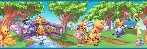 Winnie the Pooh Scenic Wall Border - Wall Sticker Outlet