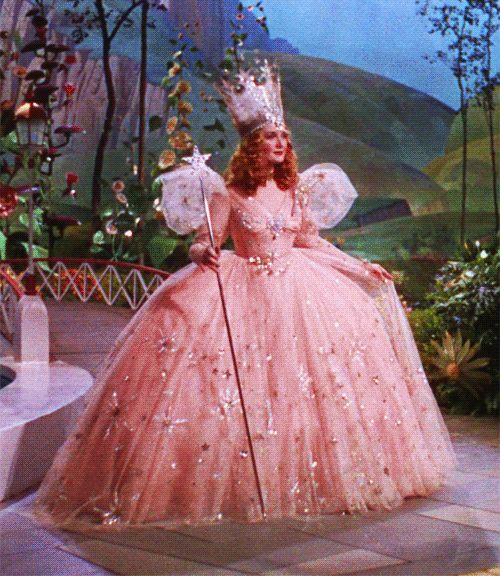 I used to wear pink everywhere like Gilda, the good witch.