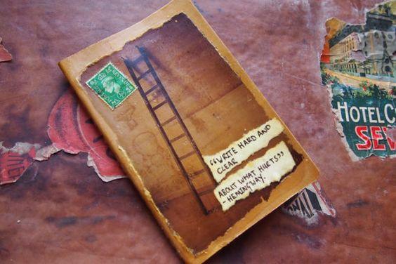 READY TO SHIP Literary Hemingway Theme Notebook Small