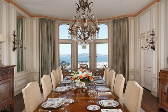 Formal dining in Pacific Heights.  Architect Willis Polk.