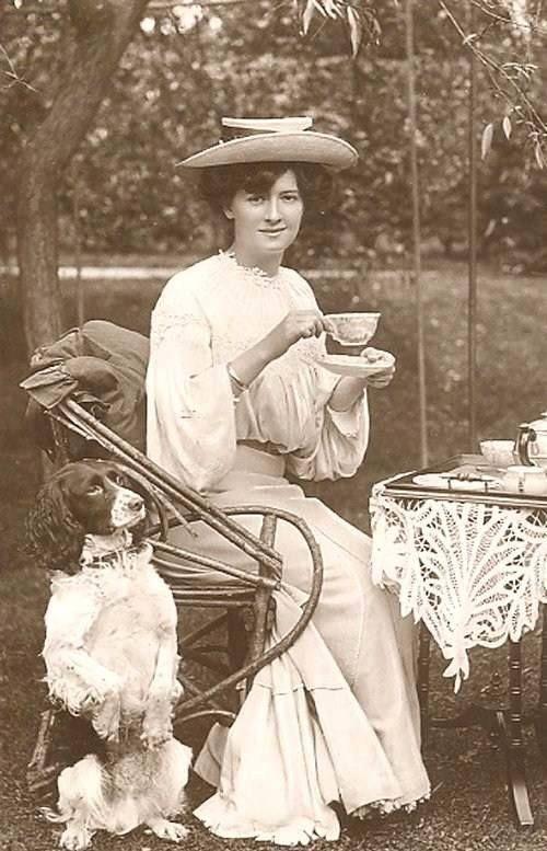 Taking tea in the garden