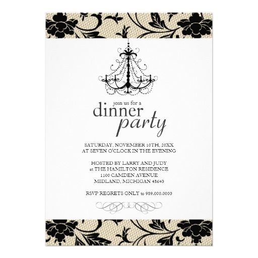 Classy Christmas Dinner Party Invitations Holiday Decor \ Table - dinner party invitation sample