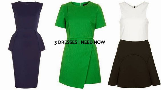 3 dresses i need now #topshop