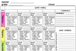 Easy Guided Reading Group Lesson Plan by A Teacher Plan....I just purchased this file it is AMAZING!! What a time saver!!