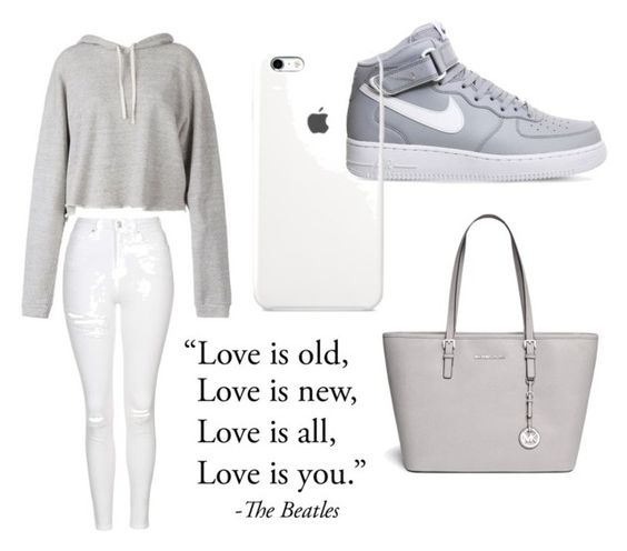 """""""Untitled #30"""" by hannah-s-b on Polyvore featuring Faith Connexion, Michael Kors, NIKE and Topshop"""