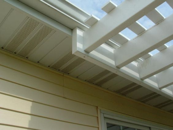 Shows A Pergola Attached Just Under The Rain Gutter