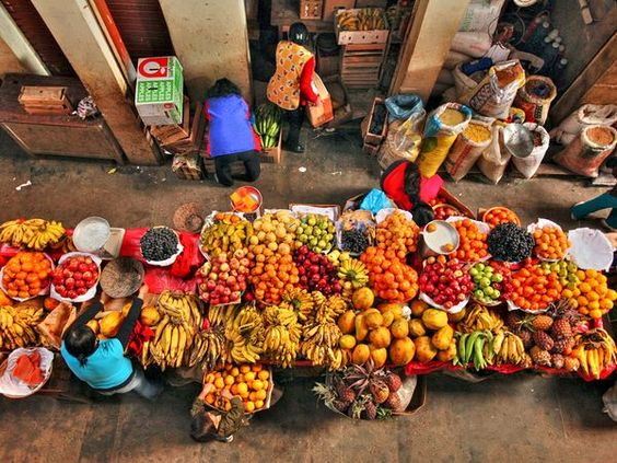 A market in Chachapoyas, Peru
