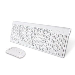 Amazon.com: UHURU Slim 2.4G Wireless Compact Keyboard and Mouse Combo with Dedicated Hot Keys for Windows 10 / 8 / 7 / Vista / XP / Macs [White, New Version]: Computers & Accessories