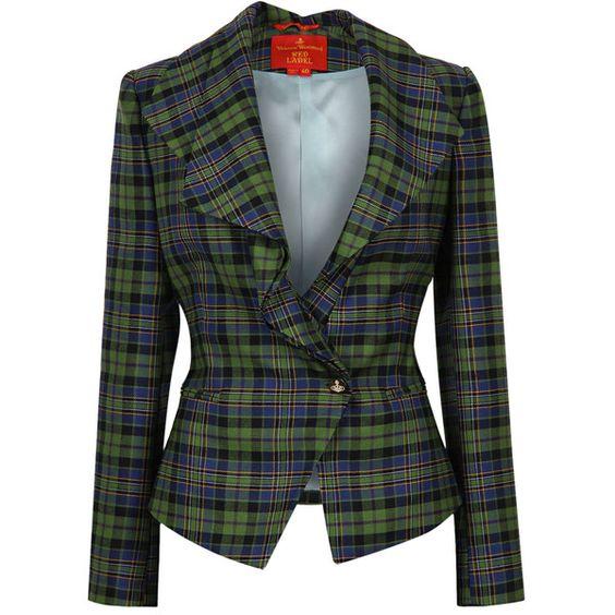 Vivienne Westwood Green &amp Black Tartan Tailored Jacket found on