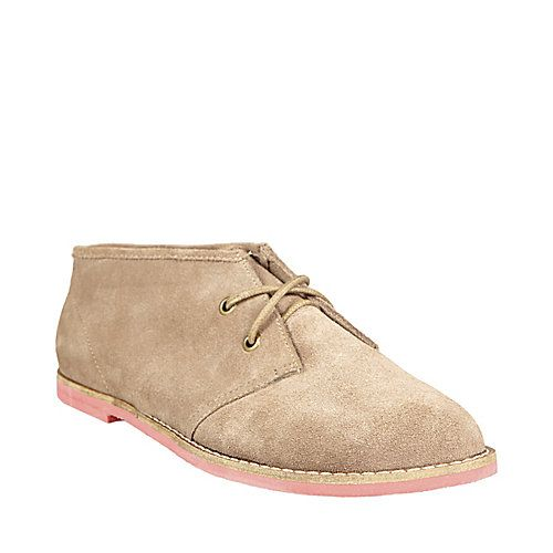 CIGGAR CHESTNUT SUEDE women's bootie flat lace up - Steve Madden #backtoschool