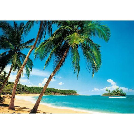 Palm Tree Island: W+G GIANT 8 PART TROPICAL ISLAND BEACH SEA PALM TREE