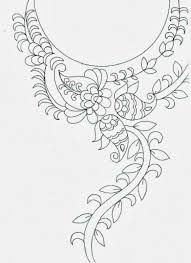 hand embroidery designs for neck - بحث Google‏: