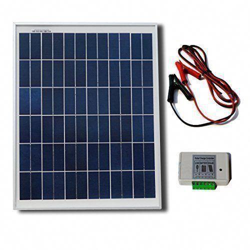Eco Worthy 20w 12v Solar Panel Kit 20 Watt Polycrystalline Solar Panel Battery Clips 3a Charge Controller Solar Power Shop Best Solar Panels 12v Solar Panel Solar