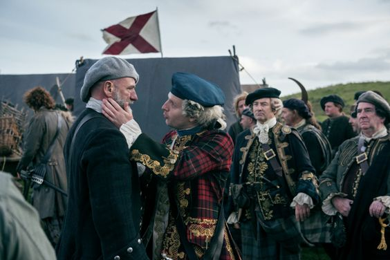 """HQ still of Prince Charlie and Dougal in """"Prestonpans""""."""