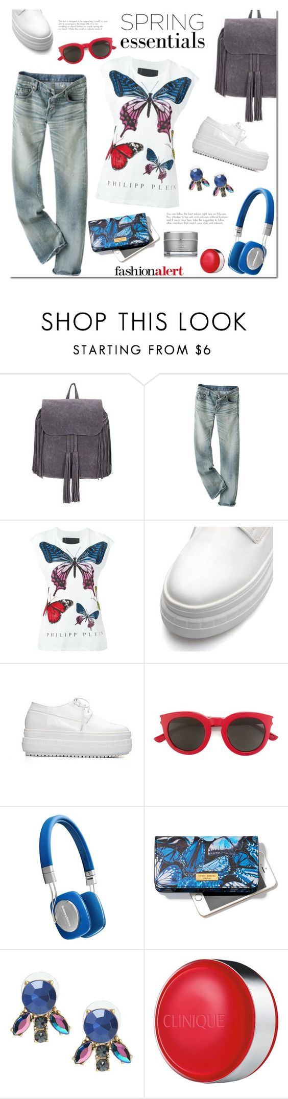 """""""Spring and butterflyes"""" by mada-malureanu ❤ liked on Polyvore featuring Philipp Plein, Yves Saint Laurent, Bowers & Wilkins, Henri Bendel, Clinique and Sarah Chapman"""