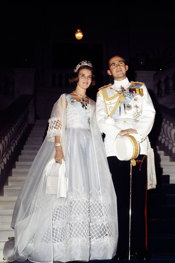 Princess Anne Marie of Denmark and King Constantine II of Greece