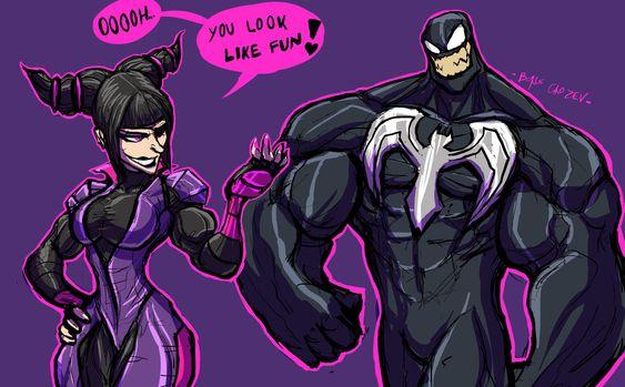 Venom And Juri Character Drawing Juri Street Fighter Character Art