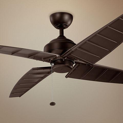 60 Kichler Surrey Climates Satin Natural Bronze Ceiling Fan