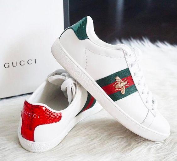 outlet Gucci Ace aus Leder For mens