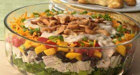 Gluten Free Layered Caribbean Chicken Salad
