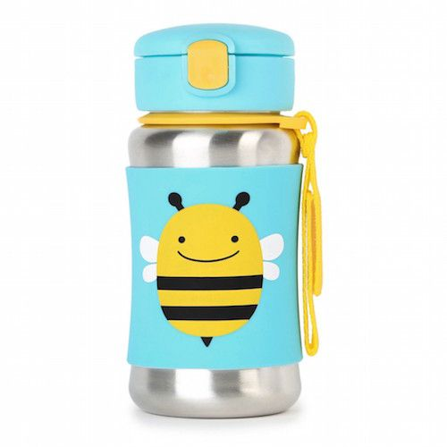 http://www.genderneutralbabyclothes.com/category/zoli-cup/ Skip Hop Zoo Stainless Steel Straw Bottle (Bee)