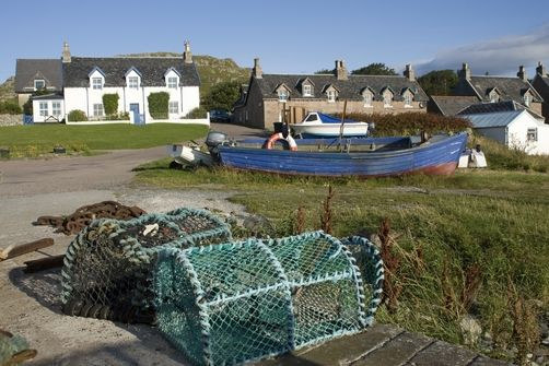 Lobster Traps On A Pier, Iona, Scotland