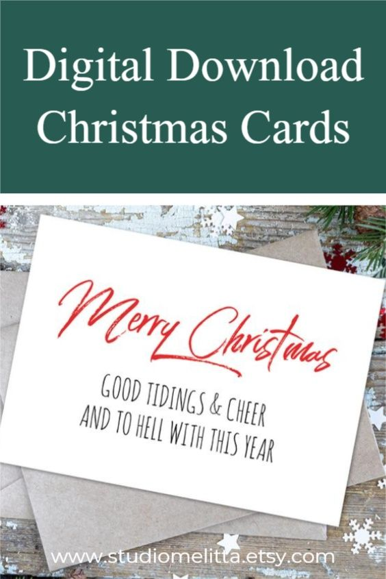 Digital Download Christmas Cards Funny Printable Birthday Cards Birthday Card Printable Download Christmas Cards