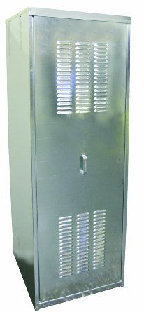 Watts r 24 galvanized steel water heater enclosure for 50 - Exterior hot water heater enclosure ...