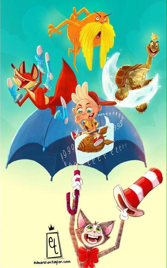 Dr. Seuss by Eduardiantaylor for Sketch Dailies