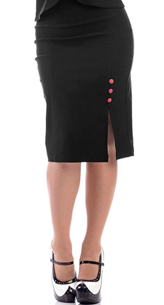 Steady Clothing Joan Skirt in Black   Blame Betty