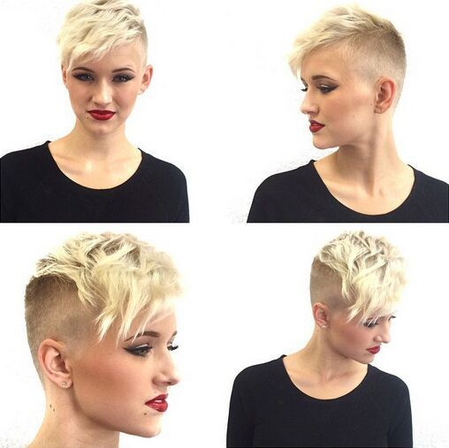Short Pixie Haircut for Curly Hair