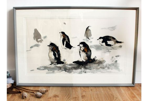 penguin painting by Anna Wright