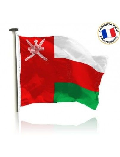 Drapeau Oman Made In France by Manufêtes
