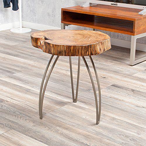 Designer Beistelltisch/Couchtisch LIVING EDGE Akazie Baumscheibe - couchtisch aus massivholz 25 designs