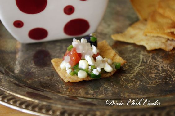 Blueberry SALSA by Dixie Chick Cooks #salsa