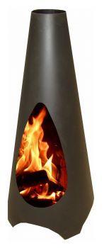 Garten-Deko direkt online kaufen - Garten Feuerstelle Vica Black coated Corten Steel, 225 €  http://www.gartendeko-direkt.de/Gartenfeuerstellen/