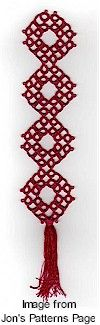 Free tat pattern: Chinese Coin Bookmark