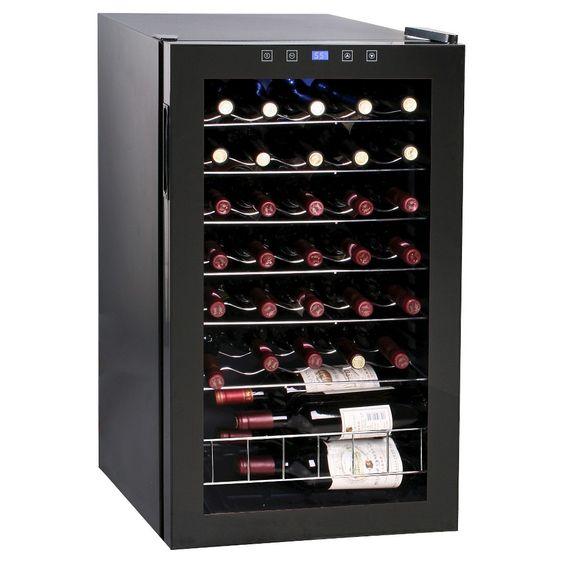 Vinotemp 34 Bottle Touch Screen Cooler - Black VT-34 TS