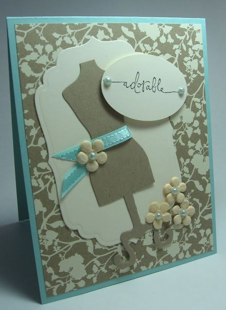 stamping up north: Stampin Up All dressed up card  - like the ribbon belt