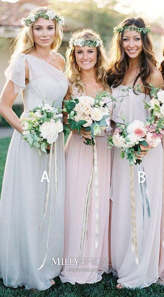 1 Shoulder Chiffon Girls Flower Party Formal Wedding Bridesmaid Prom Dress