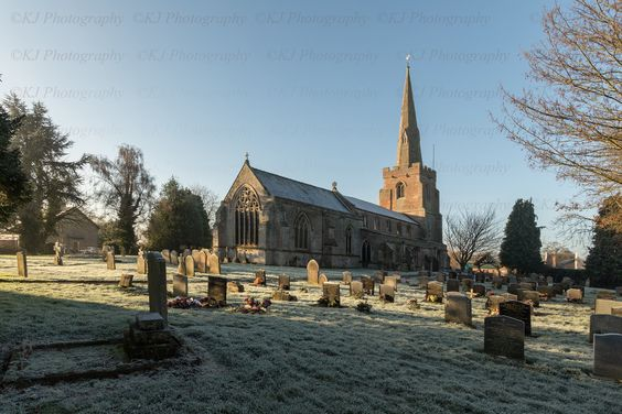 Winter village church architecture - Tydd St Mary Lincolnshire UK