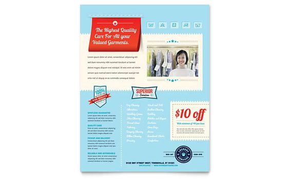 Laundry Services Flyer Template Design by StockLayouts