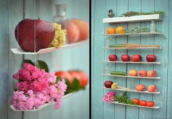 Estanterías para guardar las frutas