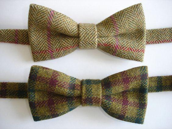 Tweed Bow Ties by Tweed Addict in Lovat Mill Cloth