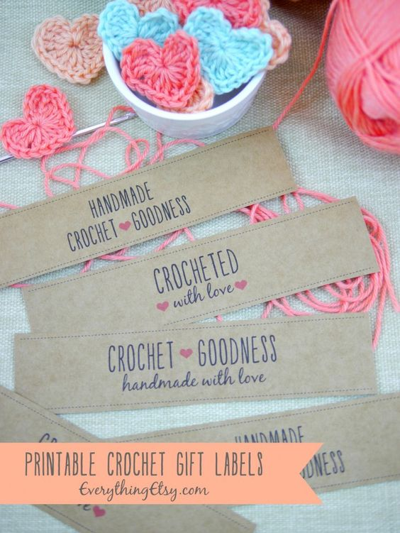 Knitting Labels Free : Free printable crochet gift labels everythingetsy