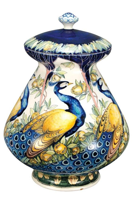 Galileo Chini Arte Ceramica Vase Florence, c.1900:
