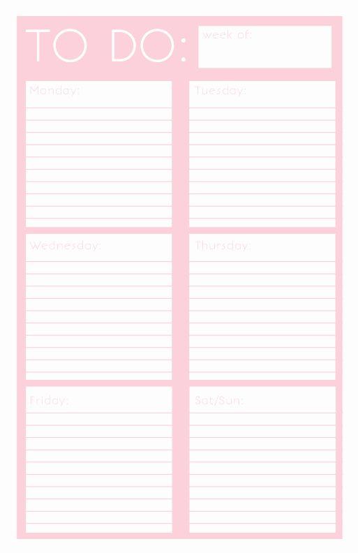 Weekly Todo List Template Elegant 40 Printable To Do List Templates Filofax Planners Planner Printables Free To Do Lists Printable