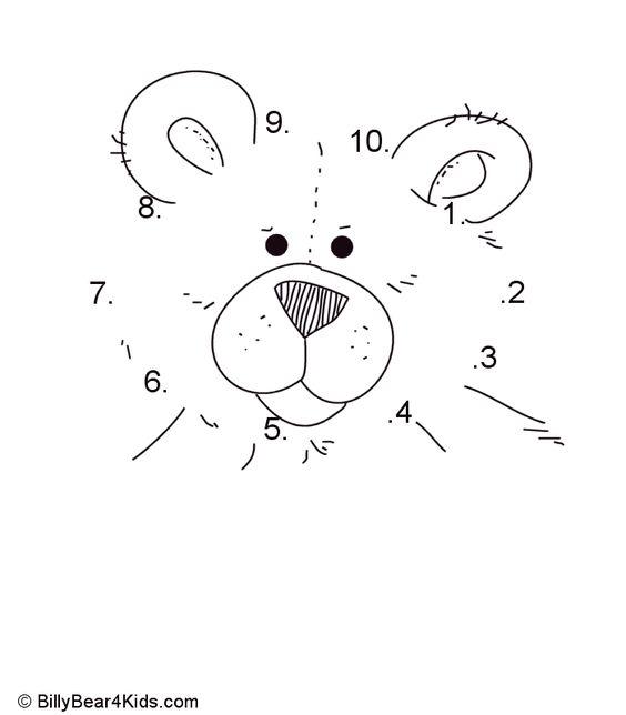 Teddy Bear Dot To Dot Numbers 1-10   Design   Pinterest   Alphabet ...